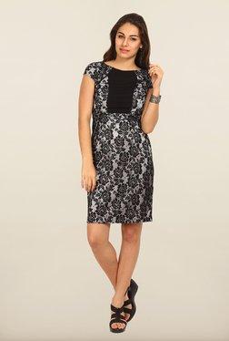 Avirate Black Lace A-Line Dress