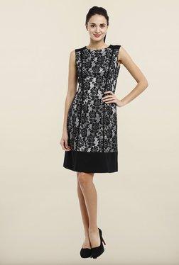 Avirate Black Lace Princess Panel Dress