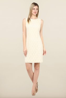 Avirate Peach Embellished Shift Dress