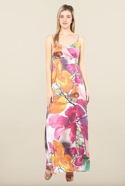 Avirate Multicolor Floral Print Maxi Dress