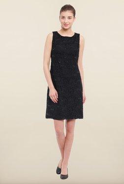 Avirate Black Embellished Shift Dress