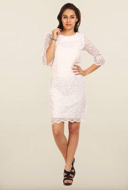 Avirate White Lace Shift Dress