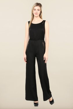 Avirate Black Solid Jumpsuit