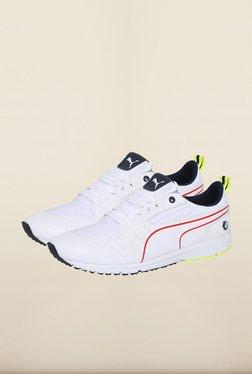 Puma BMW White & Yellow Sneakers