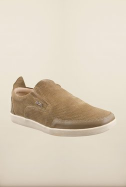 Woodland Khaki Loafers available at TatacliQ for Rs.1682.1