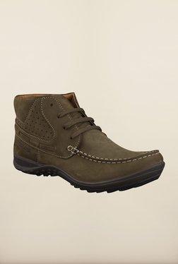 Woodland Olive Green Chukka Boots
