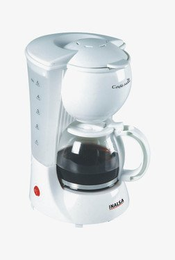 Inalsa Cafemax 600 Watt Coffee Maker (White)