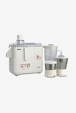 Inalsa Star DX 500W Juicer Mixer Grinder (White)