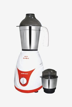 Mellerware MG01 500W Mixer Grinder (White & Red)