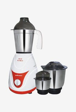 Mellerware MG02 500W Mixer Grinder (White & Red)