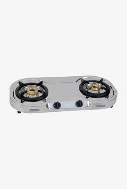 Usha Allure GS2001 2 Burners Gas Cooktop Stainless Steel