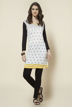 Zudio Off White Printed Kurta - Mp000000000125424