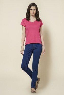 827c8a17a8db8d Zudio Pink Solid T Shirt