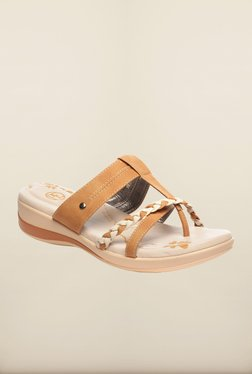 Pavers England Tan Flat Sandals - Mp000000000129793