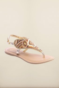 Pavers England Beige Ethnic Sandals