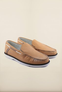 US Polo Assn. Amber Leather Boat Shoes