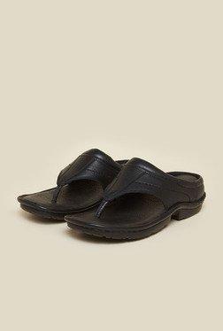 Metro Black Leather Sandals