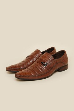 Da Vinchi by Metro Formal Leather Brown Moccasin