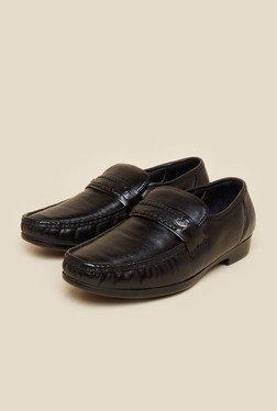 Metro Black Moccasin Formal Shoes