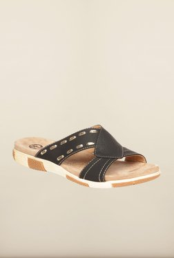 Pavers England Black Cross Strap Flat Sandals - Mp000000000141791