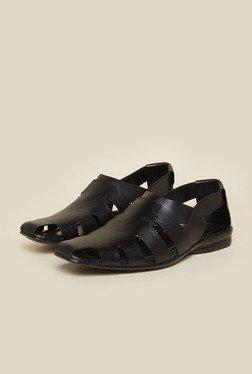 Metro Black Leather Sandals - Mp000000000144003