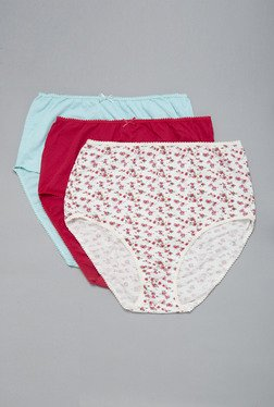Wunderlove Pink, Red & Blue Full Brief (Pack Of 3)