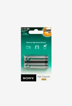 Sony AA LR6 2500 mAh Ni-MH Battery Silver (Pack of 2)
