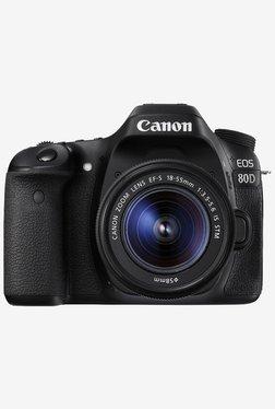 Canon EOS 80D DSLR Camera with EF-S18-55 IS STM Lens Black