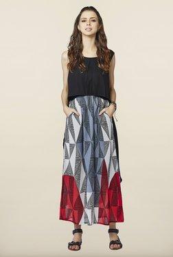 Global Desi Black Sleeveless Maxi Dress