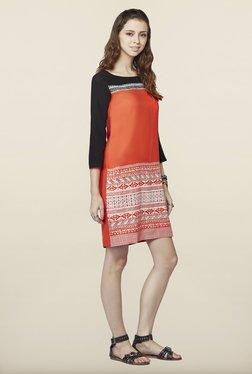 Global Desi Orange Printed Tunic