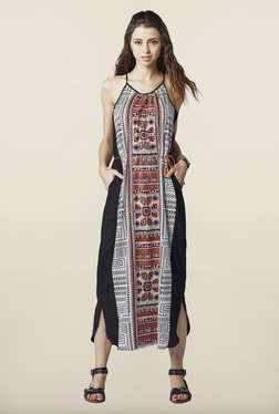 Global Desi Black A Line Dress