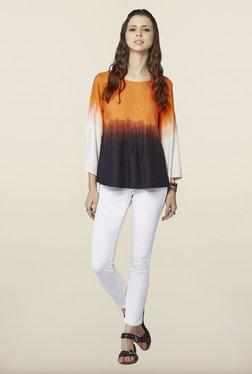 Global Desi Orange Levant Top