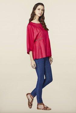 Global Desi Hot Pink Regular Fit Top