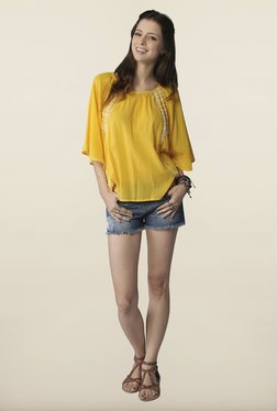 Global Desi Yellow Solid Top