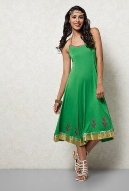 Ira Soleil Green A Line Dress