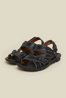 J. Fontini by Mochi Black Leather Sandals