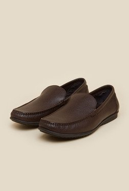 J. Fontini by Mochi Brown Leather Slip-Ons