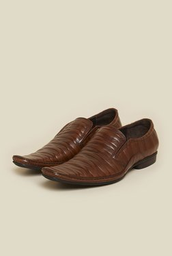 J. Fontini By Mochi Brown Leather Shoes