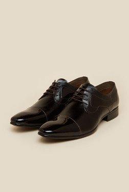 Mochi Dark Brown Formal Derby Shoes