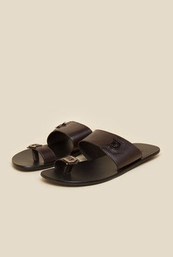 Signature by Mochi Brown Leather Sandals