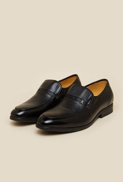 J. Fontini By Mochi Black Leather Slip-Ons