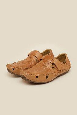 J. Fontini By Mochi Tan Fisherman Sandals