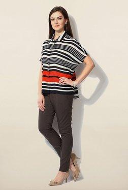 Van Heusen Black Striped Shirt