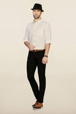 People White Solid Linen Shirt