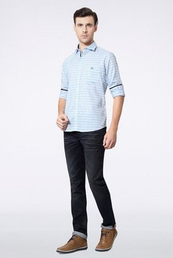 Van Heusen Blue Checks Casual Shirt