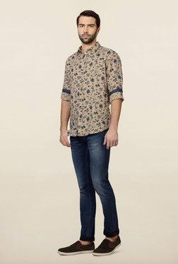 Van Heusen Beige Floral Printed Shirt
