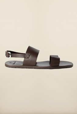 Van Heusen Dark Brown Back Strap Sandals