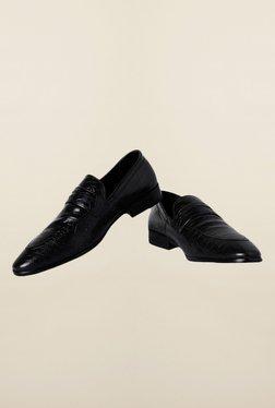 Van Heusen Black Formal Slip-Ons Shoes