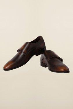 Van Heusen Brown Monk Strap Shoes
