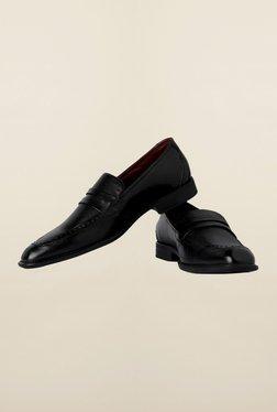 Van Heusen Black Formal Slip-Ons Shoes - Mp000000000165048
